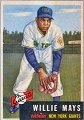 Willie Mays   New York Giants   1953 Topps card