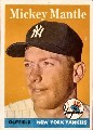 1958 Topps Mickey Mantle New York Yankees baseball card