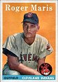 Roger Maris  Cleveland Indians  1958 Topps