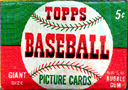 Unopened Topps wax packs of old baseball cards always get a good price.