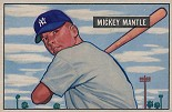1951 Bowman Mickey Mantle rookie card